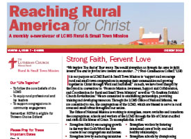 LCMS Rural & Small Town Mission – September 2014 newsletter