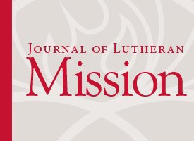Journal of Lutheran Mission – September 2014