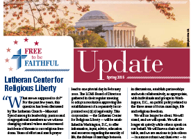 'Free to be Faithful' – Winter 2014 newsletter