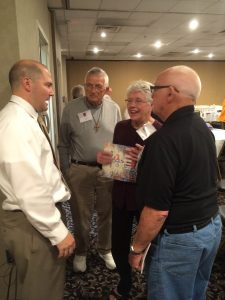 Rev. Mark Kiessling speaks with trained evangelism volunteers at the LCMS 72 Witness and Outreach training this past September in St. Louis, MO.