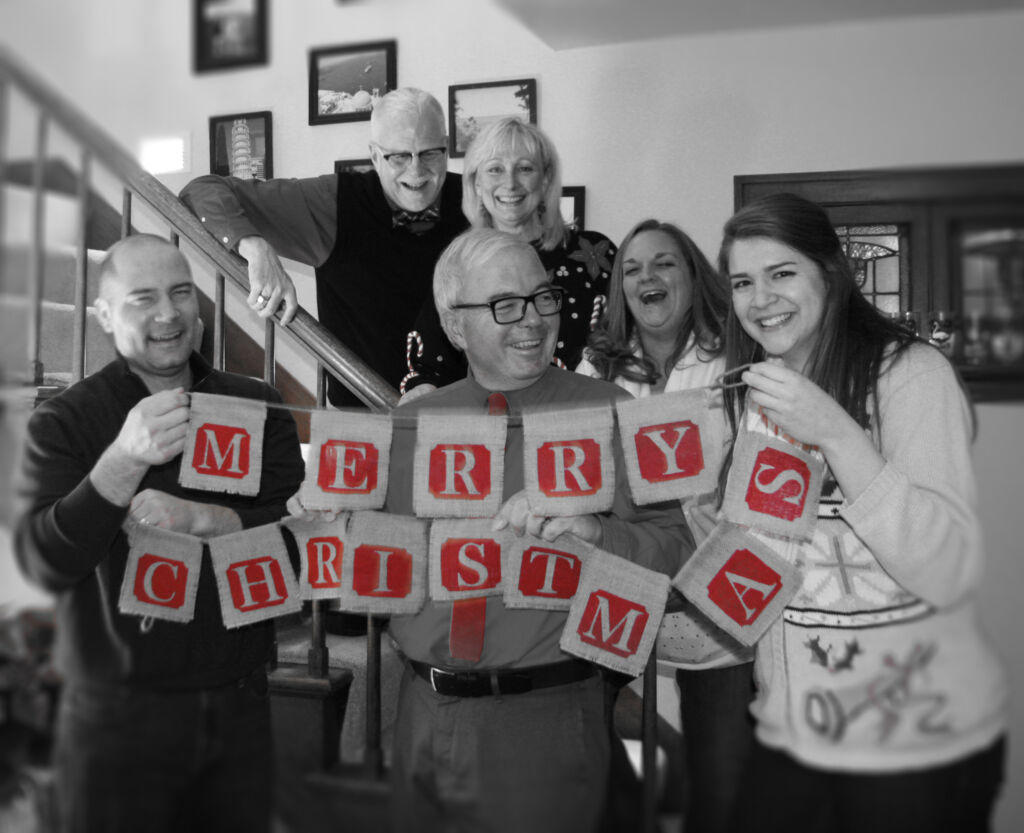 LCMS Youth Ministry staff wishes you a joy-filled Christmas! Back Row: Jim Lohman, Krista Miller, Renee Lorenz. Front Row: Mark Kiessling, Terry Dittmer, Amy Gray.