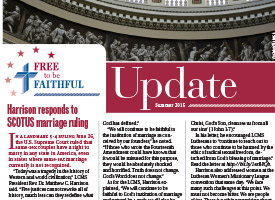 'Free to be Faithful' – Summer 2015 newsletter