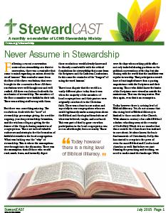 stewardcast-newsletter-july-2015