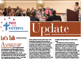 'Free to be Faithful' – Fall 2015 newsletter