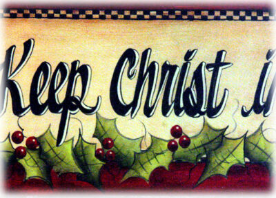 Keeping Christ In …