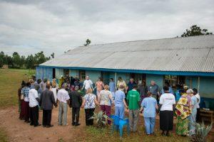 An LCMS Mercy Medical Team prays before clinic