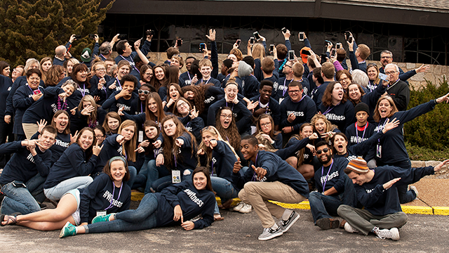 A group photo from the 2016 LYF Teen Leadership training that took place March 17-20 in St. Louis, MO.