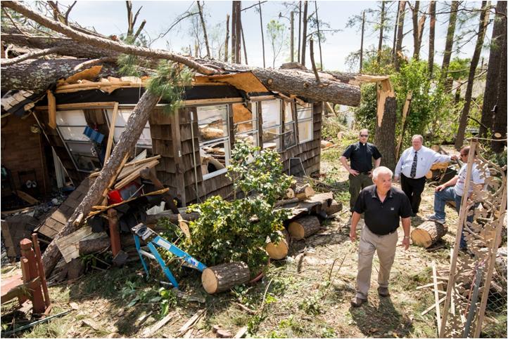 Doing an assessment of a house after a tornado. Where do you start?