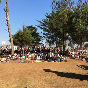 Outdoor worship with over 1000 of our Lutheran brothers and sisters.