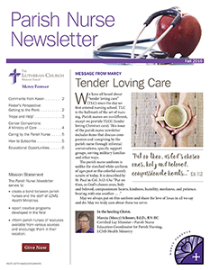 Parish Nurse Newsletter: Fall 2016