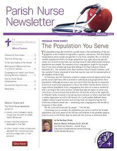 LCMS Health Ministry December 2016 Parish Nurse Newsletter