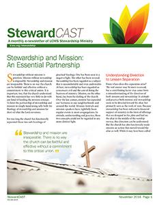 LCMS November 2016 StewardCAST Newsletter