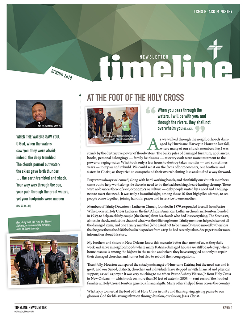 LCMS Black Ministry Spring 2018 TimeLine Newsletter