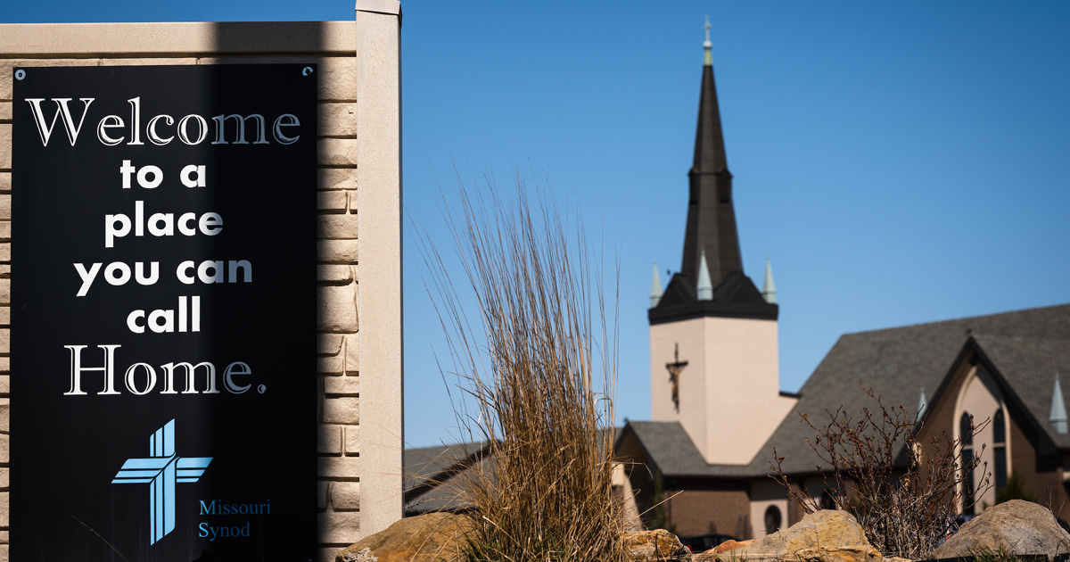 Welcome sign outside of church