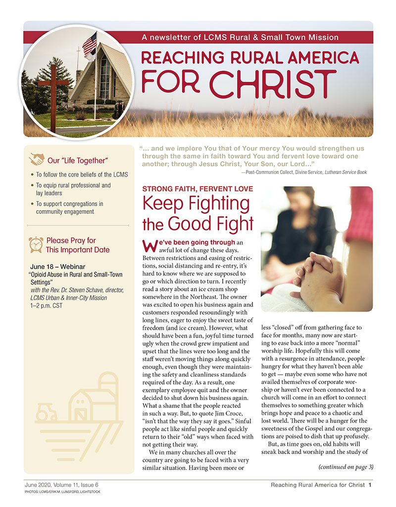 LCMS Rural and Small-Town Mission: June 2020 Newsletter
