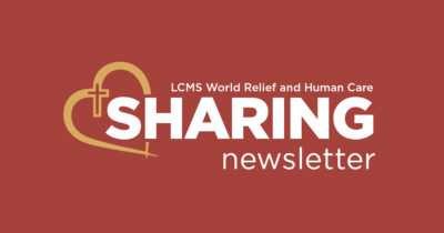 LCMS World Relief and Human Care – September 2020 'Sharing' newsletter