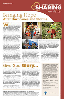 LCMS World Relief and Human Care - Sharing Newsletter - November 2020
