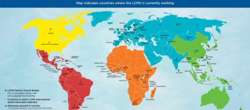 LCMS International Mission – 'Our Work in the World' map