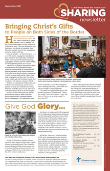 LCMS World Relief and Human Care: Sharing newsletter — September 2021